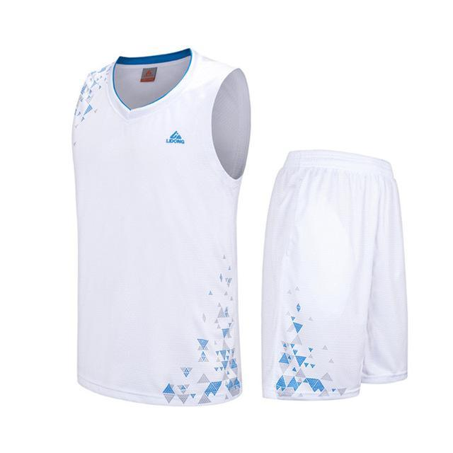 SportsChest Clothing 8090 white / S Kids Basketball Jersey Sets