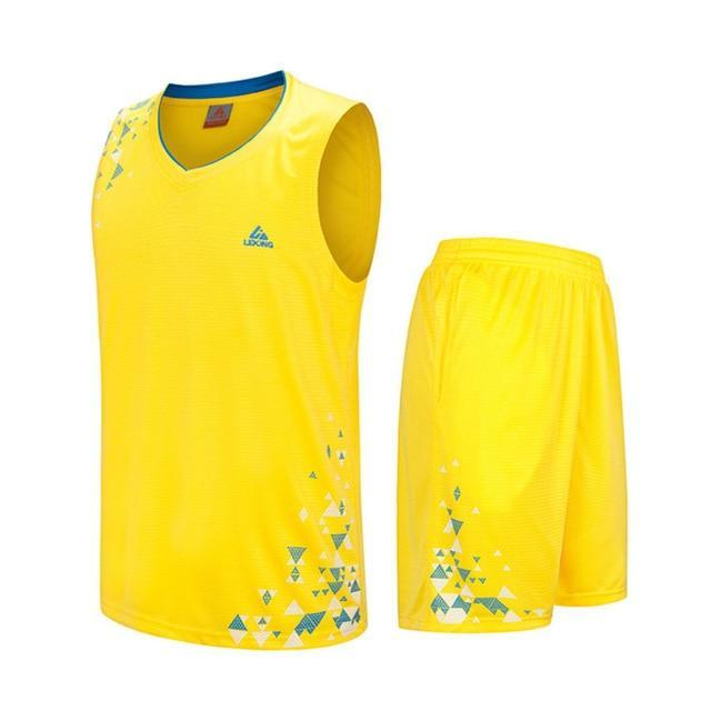 SportsChest Clothing 8090 yellow / S Kids Basketball Jersey Sets