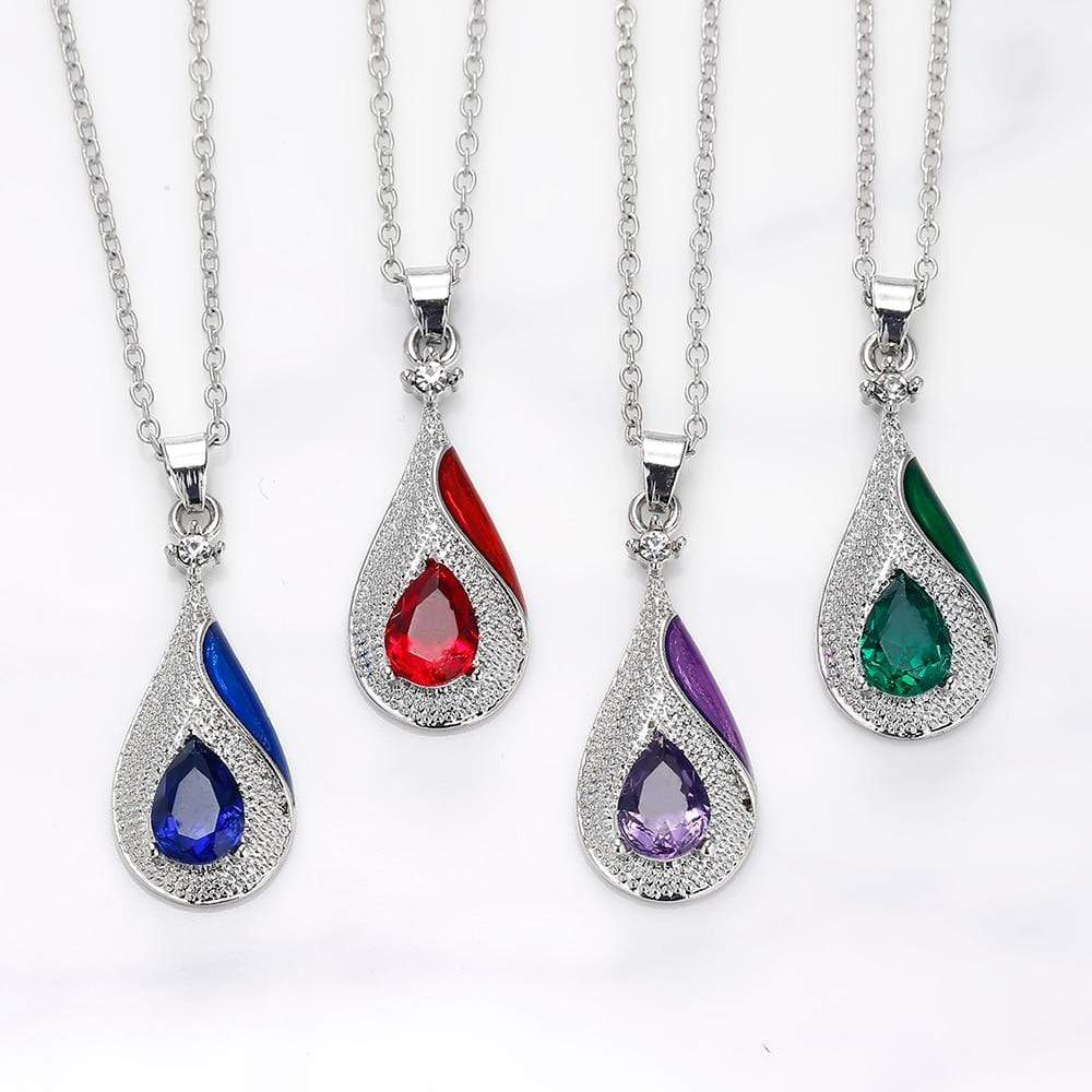SportsChest Crystal Necklace set 1 / 40cm Water Drop Crystal Earrings & Necklaces Set