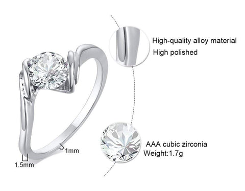Image of SportsChest Cubic Zirconia Ring 5 Cubic Zirconia Ring