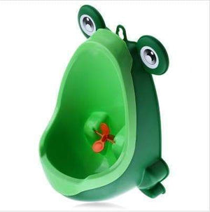 SportsChest Green Boys Frog Shape Urinal