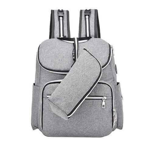 SportsChest Grey Multi-Functional Baby Bag Travel Backpack