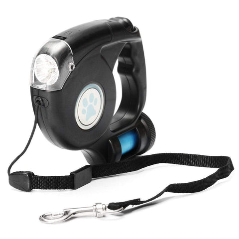 Image of SportsChest LED Flashlight, Retractable Dog Leash With Bag Holder.