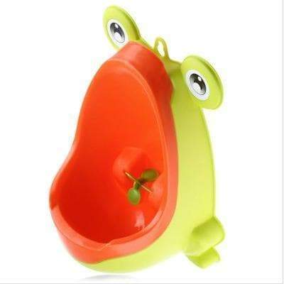 SportsChest Light Green Boys Frog Shape Urinal