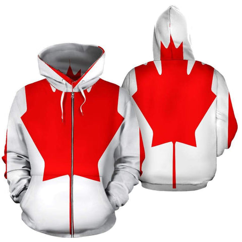 Image of SportsChest Men's Zip-Up Hoodie - Canada Zip Up Hoodie / S Canada Zip Up Hoodie