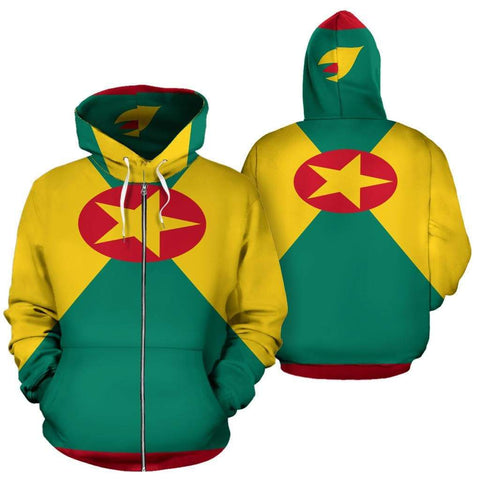 Image of SportsChest Men's Zip-Up Hoodie - Grenada Zip Up Hoodie / S Grenada Zip Up Hoodie