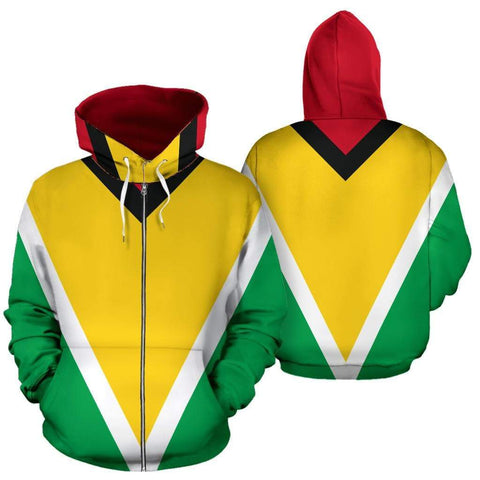 Image of SportsChest Men's Zip-Up Hoodie - Guyana Zip up Hoodie / S Guyana Zip up Hoodie