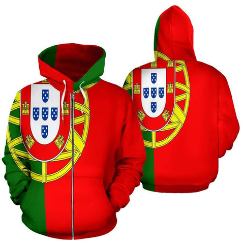 Image of SportsChest Men's Zip-Up Hoodie - Zip Up Hoodie / S Portugal Zip Up Hoodie