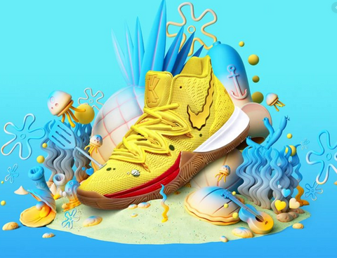 SportsChest Mens K5 Spongebob Basketball Shoes Size 7-12