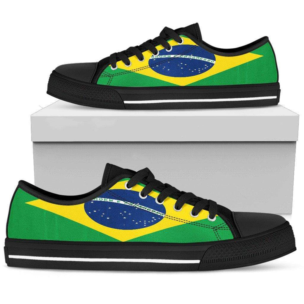 SportsChest Mens Low Top - Black - Brazil Low Top Shoe / US5 (EU38) Brazil Low Top Shoe
