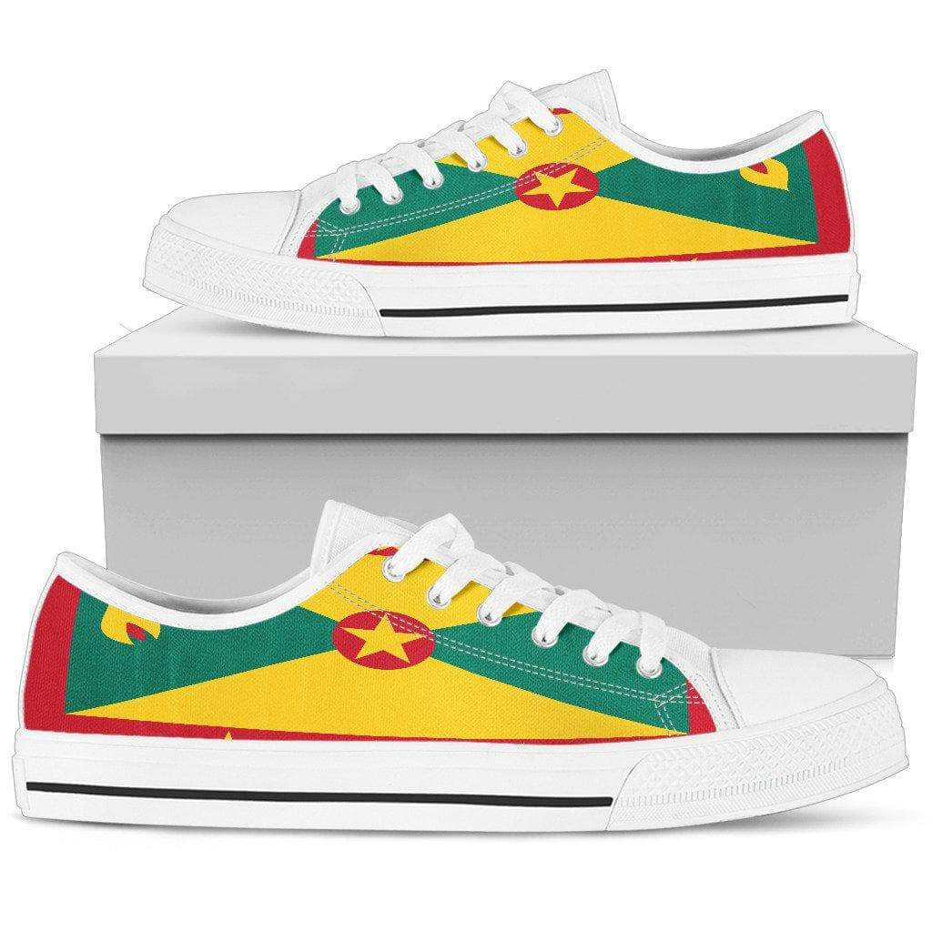 SportsChest Mens Low Top - White - Men's Grenada Low Top Shoes / US5 (EU38) Men's Grenada Low Top Shoes