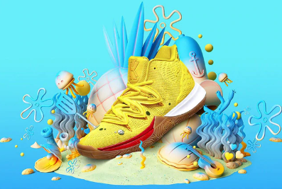 Image of SportsChest New Kyrie 5 Basketball Spongebob Shoes