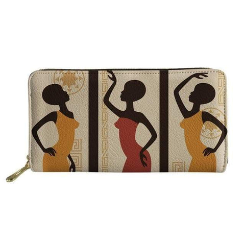 SportsChest P4813Z21 Afro Printing Women's Large Handbag And Wallet Set