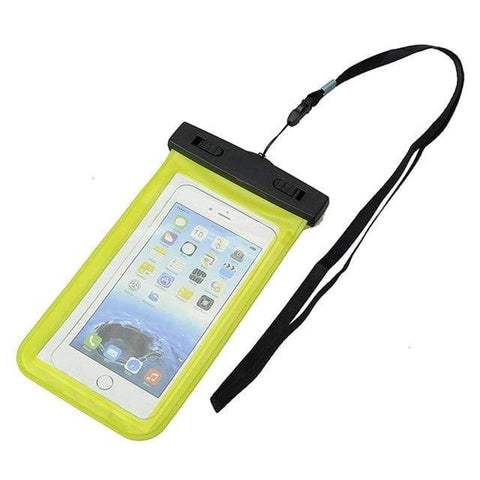 Image of SportsChest Phone Case Yellow Waterproof Phone Pouch