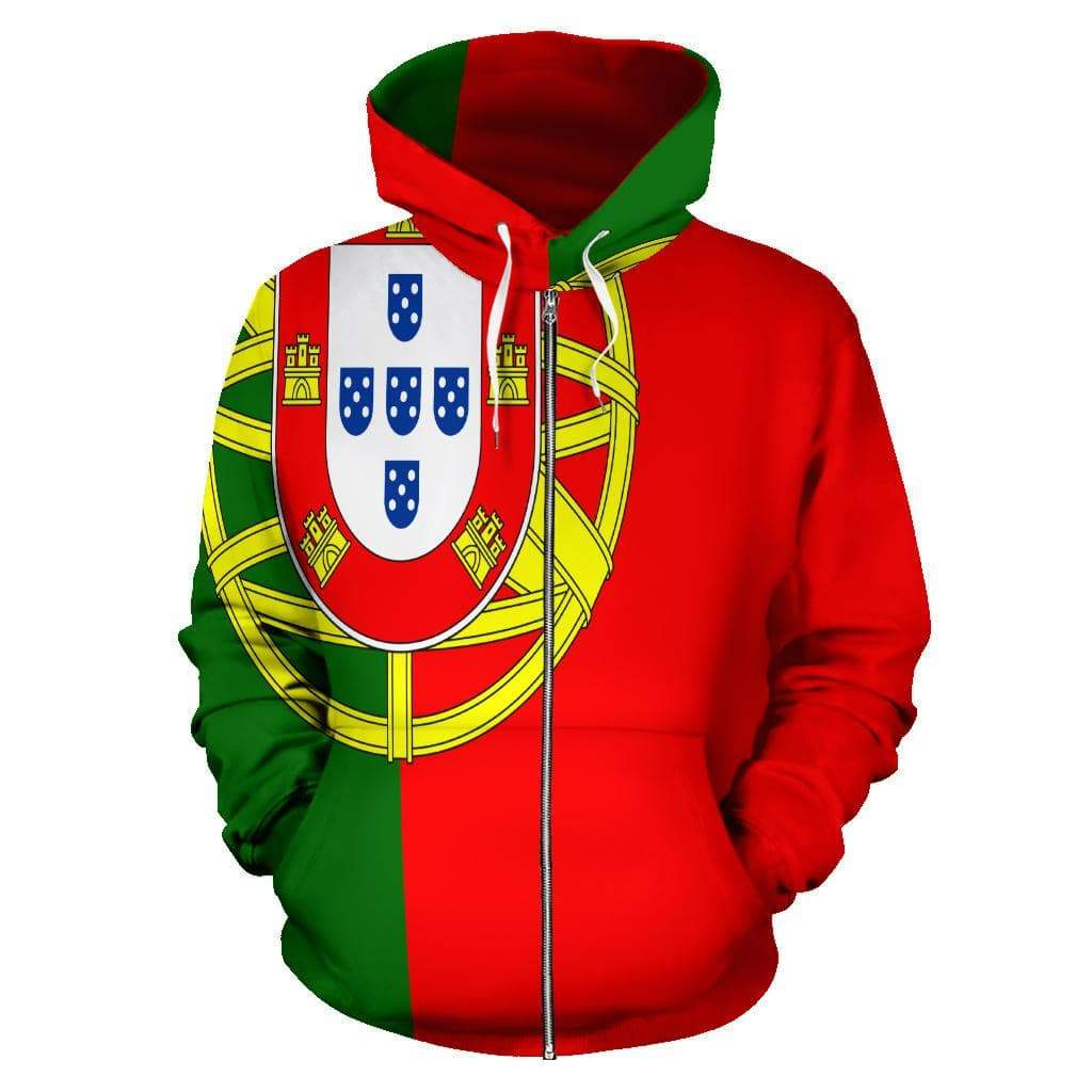 SportsChest Portugal Zip Up Hoodie