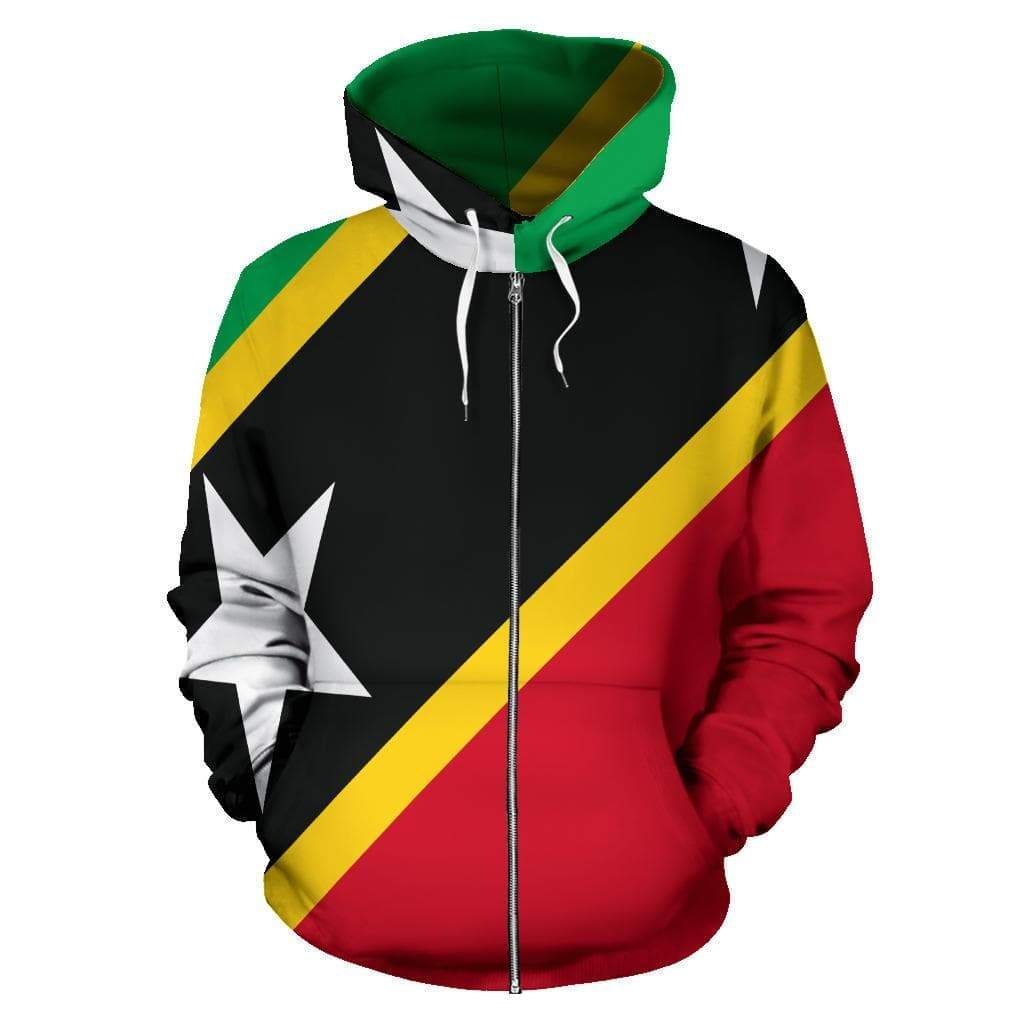 SportsChest Saint Kitts and Nevis Zip Up Hoodie