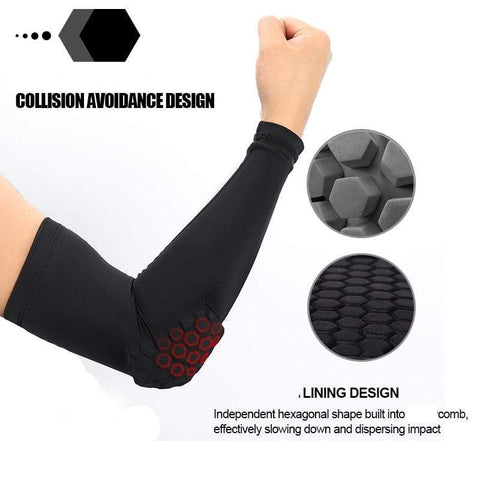 Image of SportsChest Sports Sleeve Black / L Padded Sports Elbow Sleeve