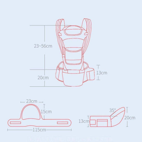 SportsChest STORE 0-48M Ergonomic Front Facing Baby Carrier