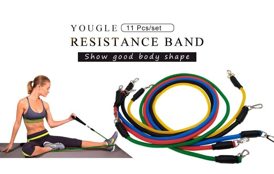 SportsChest STORE 11pcs/set Fitness Exercises Resistance Bands