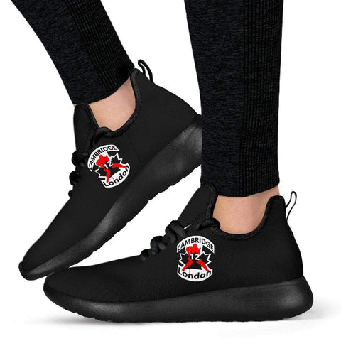 Image of SportsChest STORE #12 London Black Cambridge Mesh Knit Sneakers
