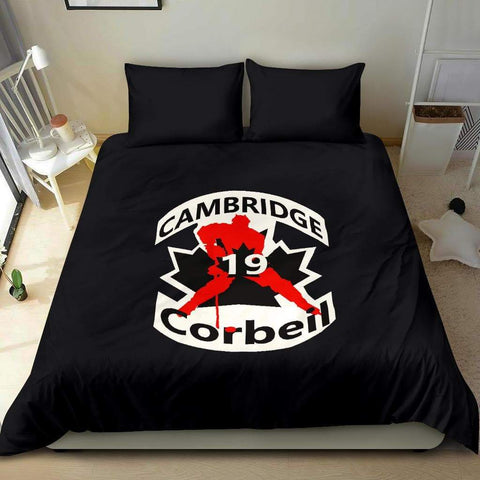SportsChest STORE #19 Corbeil Cambridge Hockey Black Bedding Set