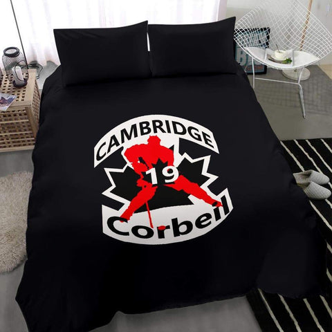 Image of SportsChest STORE #19 Corbeil Cambridge Hockey Black Bedding Set