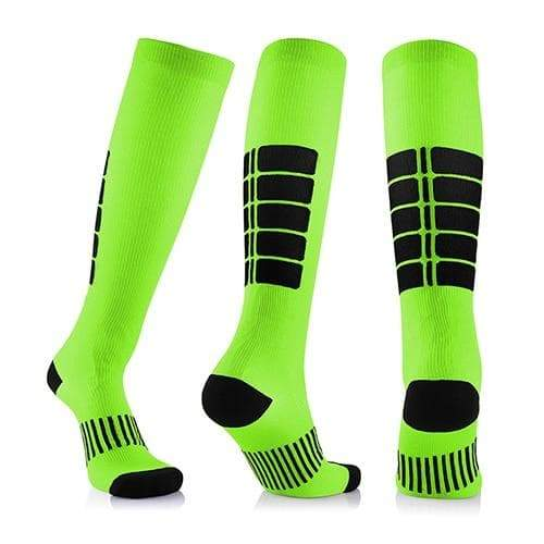 SportsChest STORE 3 pairs(green) / China / L/XL (50-52) Fancyteck 3Pairs Antifatigue Unisex Compression Socks Medical Varicose Veins Leg Relief Pain Knee High Stockings