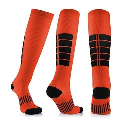SportsChest STORE 3 pairs(orange) / China / L/XL (50-52) Fancyteck 3Pairs Antifatigue Unisex Compression Socks Medical Varicose Veins Leg Relief Pain Knee High Stockings