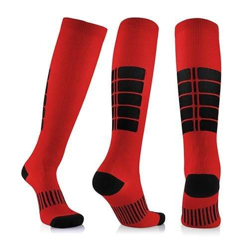 SportsChest STORE 3 pairs(red) / China / L/XL (50-52) Fancyteck 3Pairs Antifatigue Unisex Compression Socks Medical Varicose Veins Leg Relief Pain Knee High Stockings
