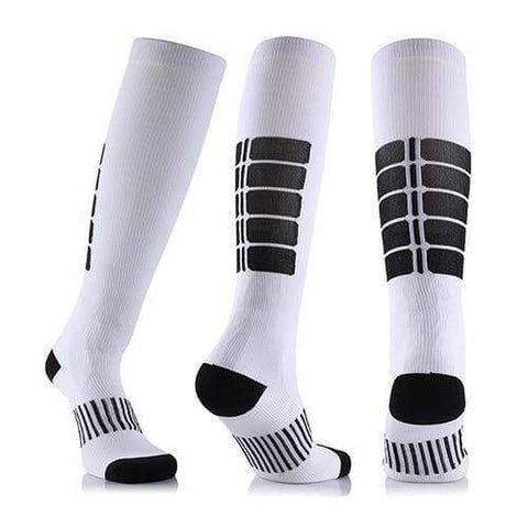 SportsChest STORE 3 pairs(white) / China / L/XL (50-52) Fancyteck 3Pairs Antifatigue Unisex Compression Socks Medical Varicose Veins Leg Relief Pain Knee High Stockings