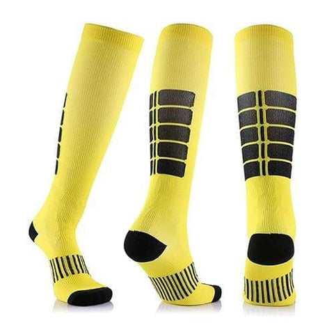 SportsChest STORE 3 pairs(yellow) / China / L/XL (50-52) Fancyteck 3Pairs Antifatigue Unisex Compression Socks Medical Varicose Veins Leg Relief Pain Knee High Stockings