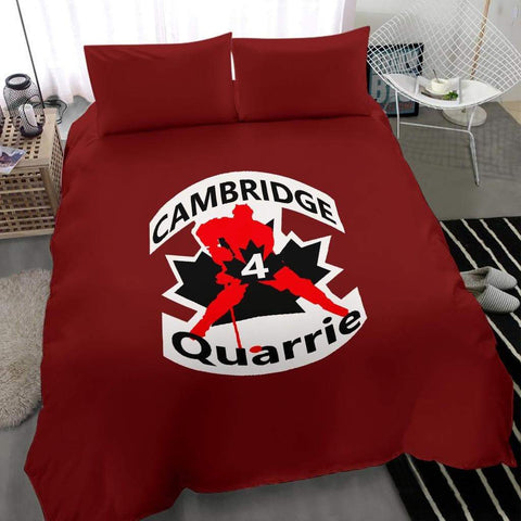 Image of SportsChest STORE #4 Quarrie Cambridge Hockey Red Bedding Set