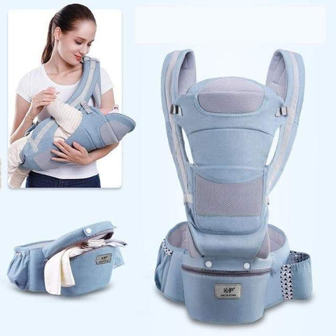 SportsChest STORE 4 season-light blue 0-48M Ergonomic Front Facing Baby Carrier