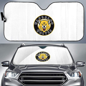 SportsChest STORE Auto Sun Shade - White Auto Sun Shade / Universal Fit Waterloo Wolves White Auto Sun Shade