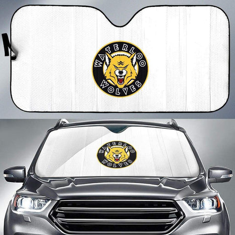 Image of SportsChest STORE Auto Sun Shade - White Auto Sun Shade / Universal Fit Waterloo Wolves White Auto Sun Shade