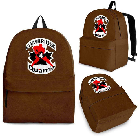 SportsChest STORE Backpack - Black - #4 Quarrie Cambridge Hockey Brown Backpack / Adult (Ages 13+) #4 Quarrie Cambridge Hockey Backpack