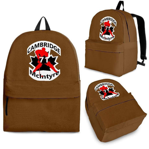 Image of SportsChest STORE Backpack - Black - #71 McIntyre Brown Cambridge Hockey Backpack / Adult (Ages 13+) #71 McIntyre Cambridge Hockey Backpack