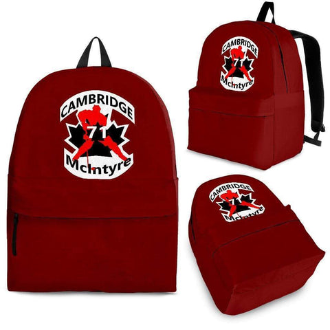 Image of SportsChest STORE Backpack - Black - #71 McIntyre Red Cambridge Hockey Backpack / Adult (Ages 13+) #71 McIntyre Cambridge Hockey Backpack