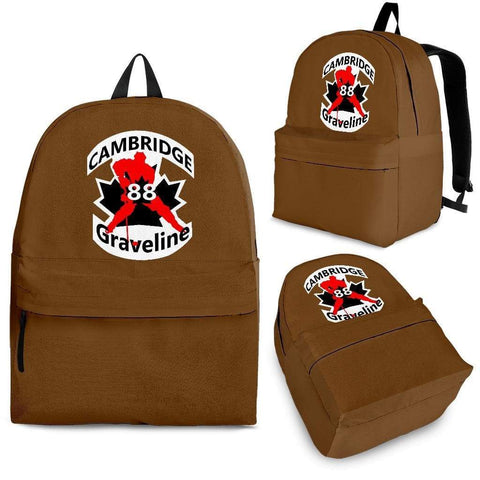 SportsChest STORE Backpack - Black - #88 Graveline Brown backpack / Adult (Ages 13+) #88 Graveline Cambridge Hockey backpack