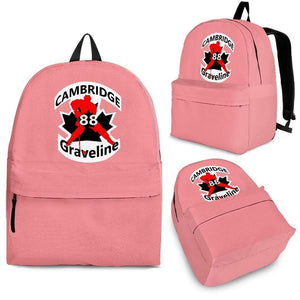 SportsChest STORE Backpack - Black - #88 Graveline Pink backpack / Adult (Ages 13+) #88 Graveline Cambridge Hockey backpack