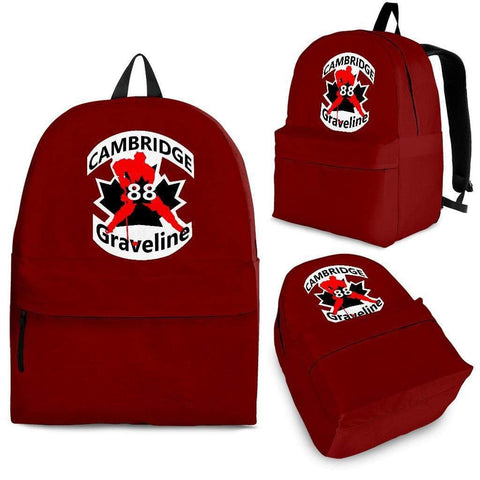 SportsChest STORE Backpack - Black - #88 Graveline Red backpack / Adult (Ages 13+) #88 Graveline Cambridge Hockey backpack
