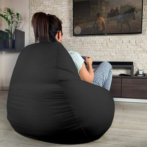 Image of SportsChest STORE Bean Bag Chair - #12 London Black Bean Bag Chair / One Size #12 London Cambridge Black Bean Bag Chair