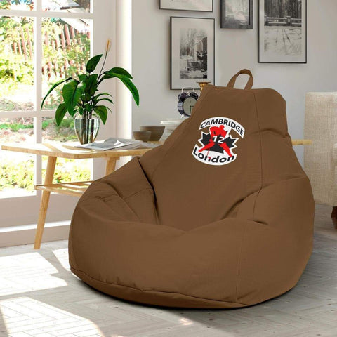 Image of SportsChest STORE Bean Bag Chair - #12 London Cambridge Brown Bean Bag Chair / One Size #12 London Cambridge Brown Bean Bag Chair