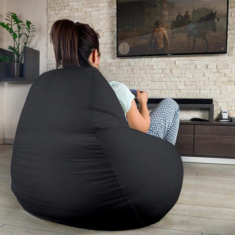 Image of SportsChest STORE Bean Bag Chair - #17 Zakhary Cambridge Black Bean Bag Gaming Chair / One Size #17 Zakhary Cambridge Black Bean Bag Gaming Chair