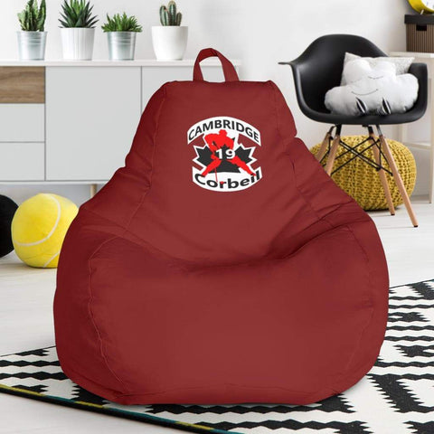 SportsChest STORE Bean Bag Chair - #19 Corbeil Cambridge Hockey Red Bean Bag Gaming Chair / One Size #19 Corbeil Cambridge Hockey Red Bean Bag Gaming Chair