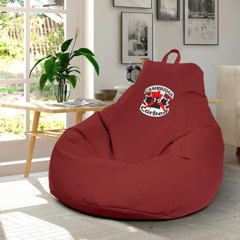 Image of SportsChest STORE Bean Bag Chair - #19 Corbeil Cambridge Hockey Red Bean Bag Gaming Chair / One Size #19 Corbeil Cambridge Hockey Red Bean Bag Gaming Chair