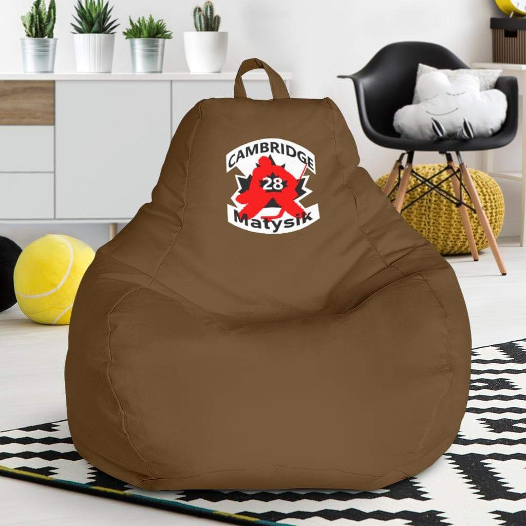 SportsChest STORE Bean Bag Chair - #28 Matysik Cambridge Hockey Brown Bean Bag Chair / One Size #28 Matysik Cambridge Hockey Brown Bean Bag Chair
