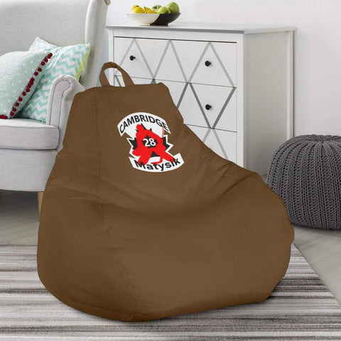 Image of SportsChest STORE Bean Bag Chair - #28 Matysik Cambridge Hockey Brown Bean Bag Chair / One Size #28 Matysik Cambridge Hockey Brown Bean Bag Chair