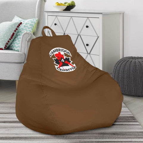 Image of SportsChest STORE Bean Bag Chair - #4 Quarrie Cambridge Hockey Brown Bean Bag Gaming Chair / One Size #4 Quarrie Cambridge Hockey Brown Bean Bag Gaming Chair
