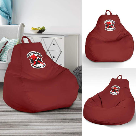 Image of SportsChest STORE Bean Bag Chair - #4 Quarrie Cambridge Hockey Red Bean Bag Gaming Chair / One Size #4 Quarrie Cambridge Hockey Red Bean Bag Gaming Chair